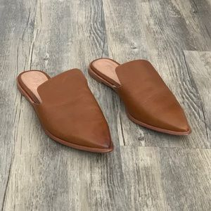 Madewell Gemma Pointy Toe Brown Leather Mule 6.5